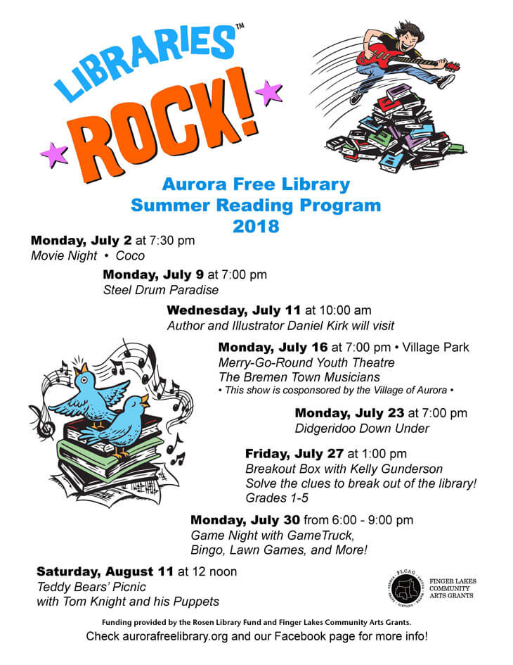Summer Reading Program 2018 Poster